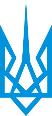 Принт Реглан (свитшот) Герб України загострений - FatLine