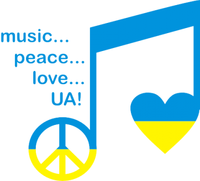 Принт Кружка 320ml Music, peace, love UA - FatLine