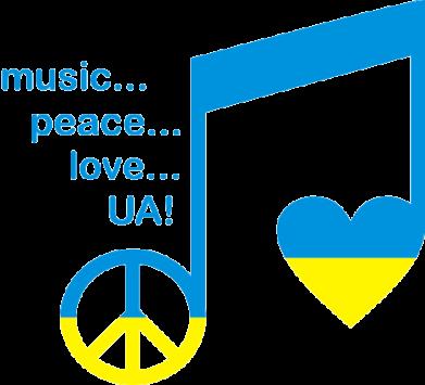 Принт Детская футболка Music, peace, love UA - FatLine