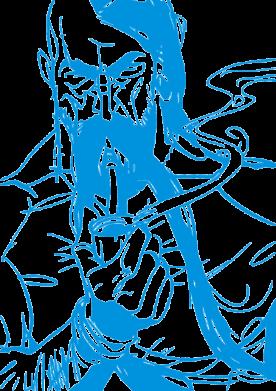 Принт Коврик для мыши Козачина з люлькою - FatLine