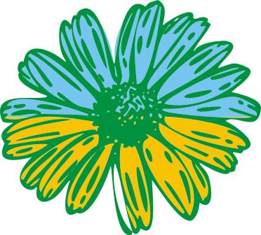 Принт Футболка Поло Українська квітка - FatLine