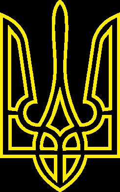 Принт Реглан Герб України (полий) - FatLine