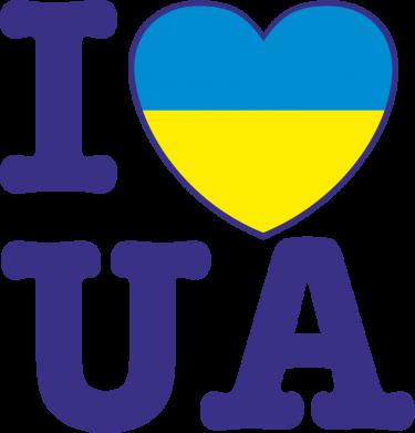 Принт Сумка I love UA - FatLine