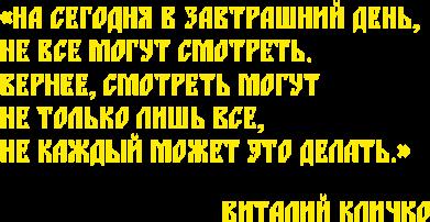Принт Мужская майка Крылатая фраза Виталия Кличко - FatLine