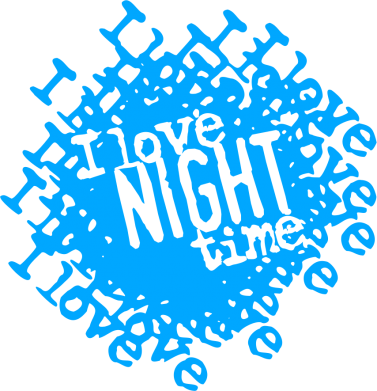 Принт Сумка I love night time - FatLine