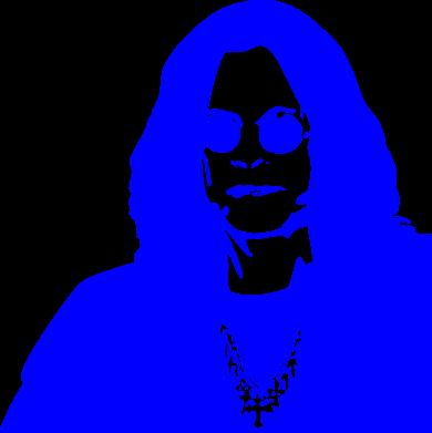 Принт Женская толстовка Ozzy Osbourne face - FatLine