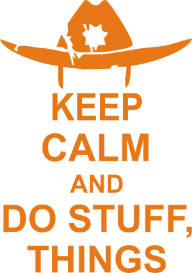 Принт Футболка KEEP CALM AND DO STUFF - FatLine