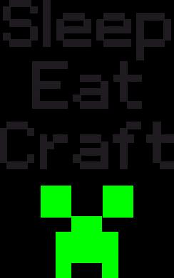 Принт Сумка Sleep,eat, craft - FatLine