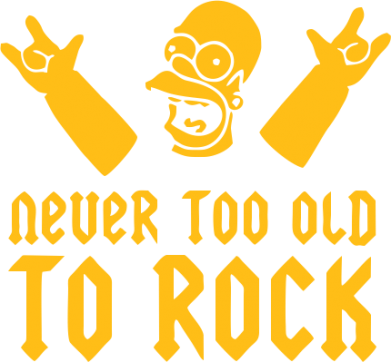 Принт Футболка Never old to rock (Gomer) - FatLine