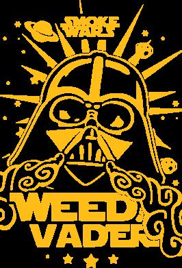 Принт Футболка с длинным рукавом Weed Vader - FatLine