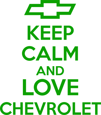 Принт Фартук KEEP CALM AND LOVE CHEVROLET - FatLine