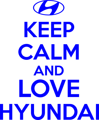 Принт Футболка KEEP CALM and LOVE HYUNDAI - FatLine