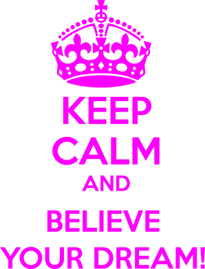 Принт Женская майка KEEP CALM and BELIVE YOUR DREAM - FatLine