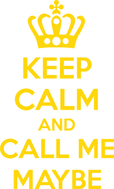 Принт Футболка Поло KEEP CALM and CALL ME MAYBE - FatLine