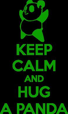 Принт Подушка KEEP CALM and HUG A PANDA - FatLine