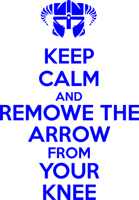Принт Футболка KEEP CALM and REMOVE THE ARROW - FatLine