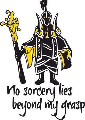 Принт Футболка no sorcery lies beyond my grasp - FatLine