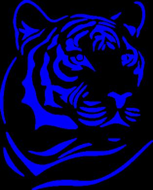 Принт Подушка Морда тигра - FatLine
