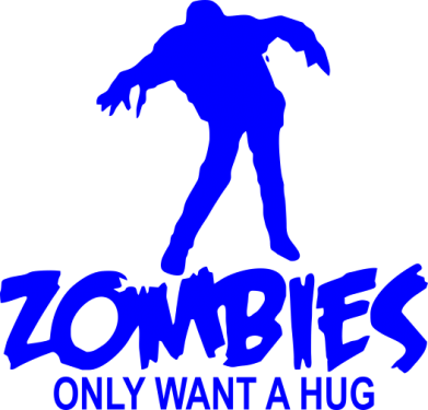 Принт Сумка Zombies only want a hug - FatLine