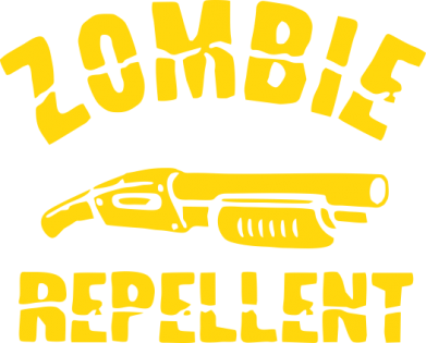 Принт Футболка Поло Zombie repellent - FatLine