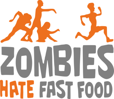 Принт Футболка Поло Zombies hate fast food - FatLine