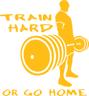 Принт Футболка с длинным рукавом Train Hard or Go Home - FatLine