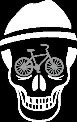 Принт Реглан Череп велосипедиста - FatLine