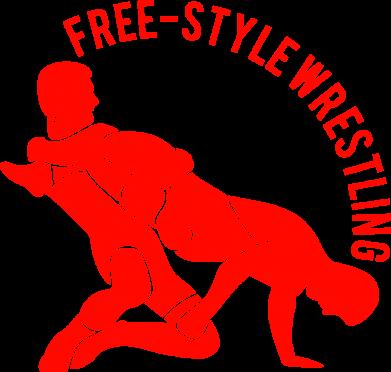 Принт Подушка Free-style wrestling - FatLine