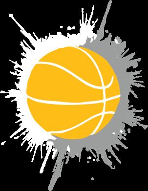 Принт Женская футболка Баскетбольный мяч - FatLine