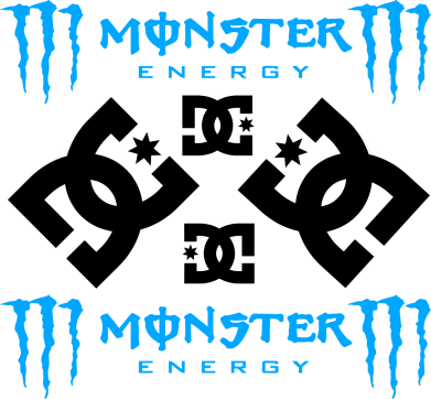 Принт Кружка 320ml Monster Energy DC Logo - FatLine