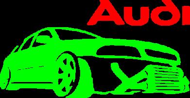 Принт Мужская майка Audi Turbo - FatLine