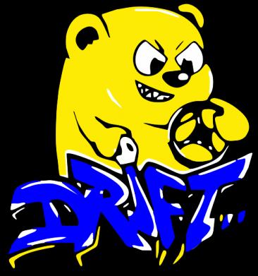 Принт Женская футболка Drift Bear - FatLine