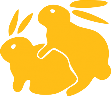 Принт Чехол для Xiaomi Mi Mix 3 Кролики - FatLine