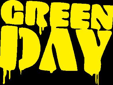 Принт Футболка Поло Green Day - FatLine