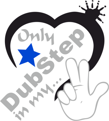 Принт кепка Only dub step in my heart - FatLine