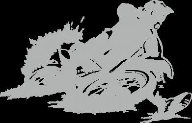 Принт Мужская майка Мотокросс лого - FatLine