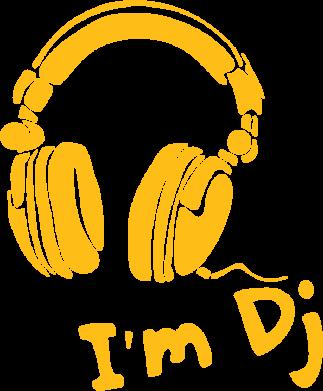 Принт Футболка I'm DJ - FatLine