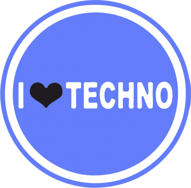 Принт Реглан I love techno music - FatLine