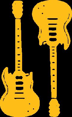 Принт Реглан Две гитары - FatLine