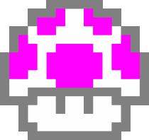 Принт Женская майка Гриб Марио в пикселях - FatLine