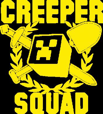 Принт Женская майка Creeper Squad - FatLine
