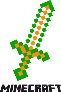 Принт Сумка Меч Minecraft - FatLine
