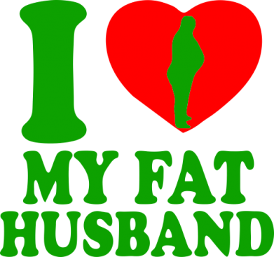 Принт Сумка I love my fat husband - FatLine