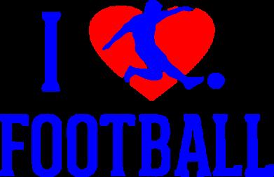Принт Женская футболка I love football - FatLine