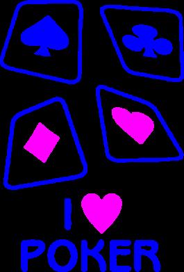 Принт Подушка I love poker - FatLine
