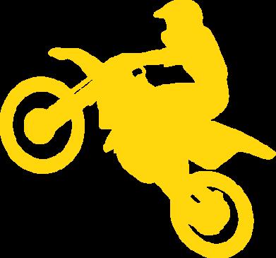 Принт Наклейка Кроссовый мотоцикл - FatLine