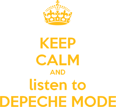Принт Толстовка KEEP CALM and LISTEN to DEPECHE MODE - FatLine