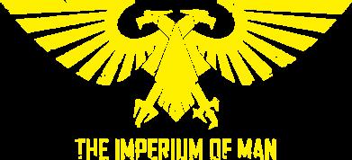 Принт Женская футболка с V-образным вырезом Imperium of Man - Warhammer 40K - FatLine