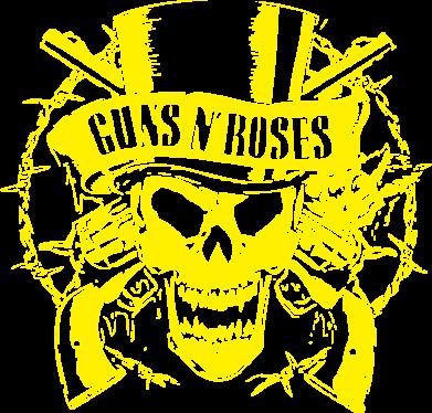 Принт Футболка Поло Guns n' Roses Logo - FatLine