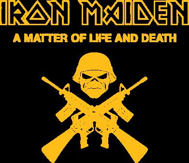 Принт Женская футболка с V-образным вырезом Iron Maiden - FatLine
